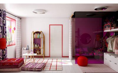 Кошкин дом — уютный минимализм для девочки дошкольного возраста