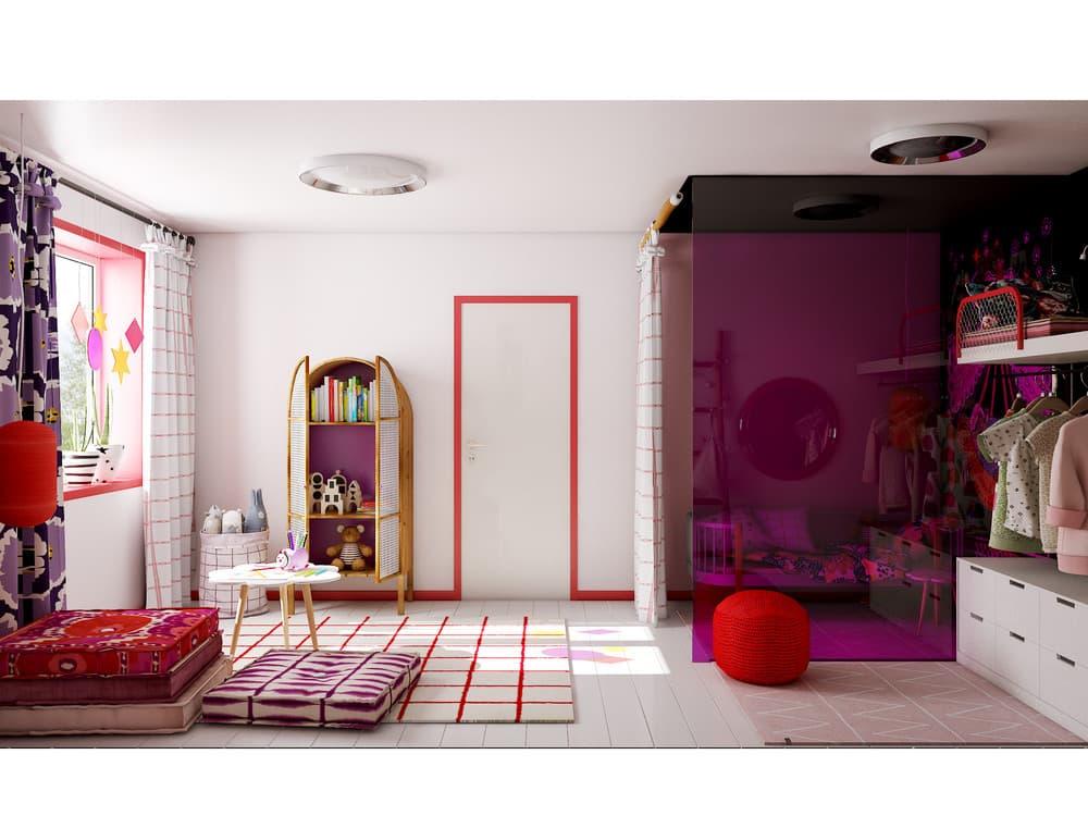 Детская комната для девочки в розовом цвете 5