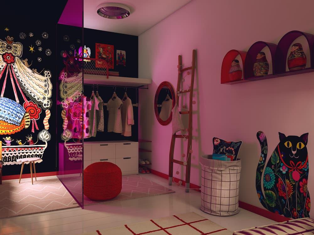 Детская комната для девочки в розовом цвете 8