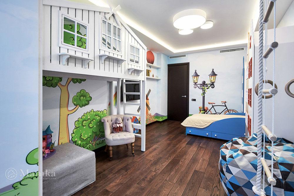 Идеи детской комнаты для девочки с необычной мебелью 2