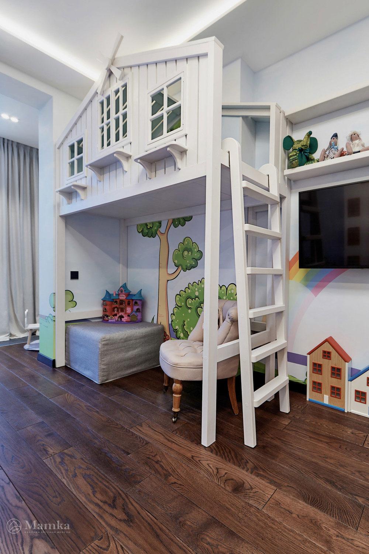 Идеи детской комнаты для девочки с необычной мебелью 6