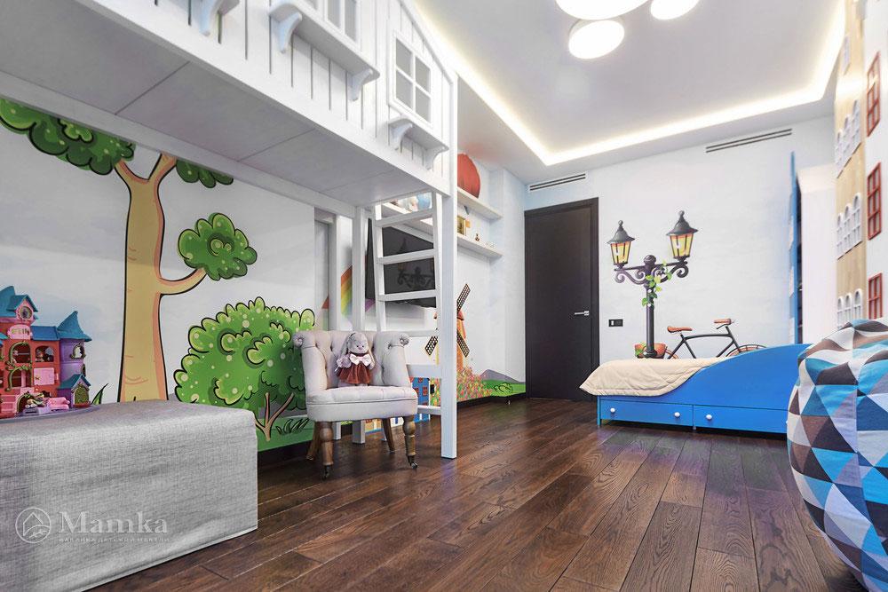 Идеи детской комнаты для девочки с необычной мебелью 7