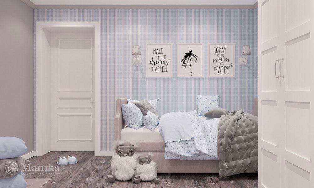 Идеи детской комнаты для девочки с нежным светлым оформлением 1
