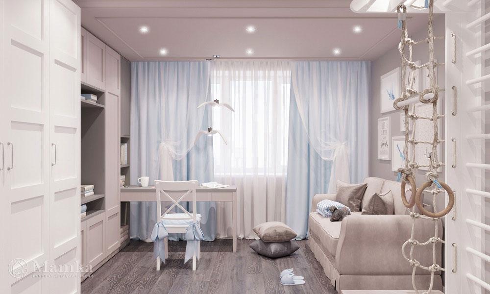 Идеи детской комнаты для девочки с нежным светлым оформлением 2