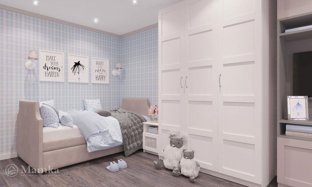 Идеи детской комнаты для девочки с нежным светлым оформлением 3