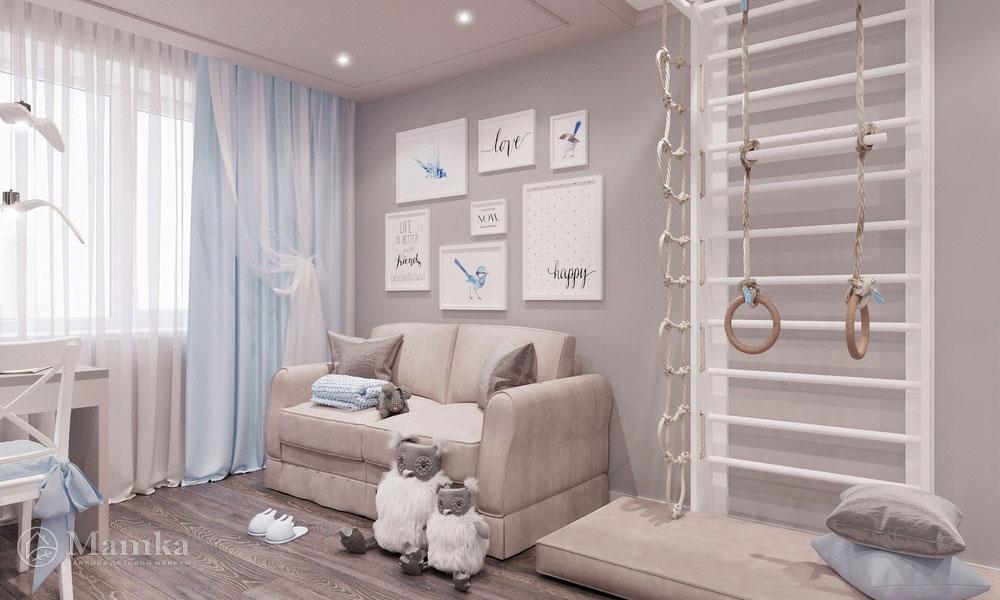 Идеи детской комнаты для девочки с нежным светлым оформлением 4