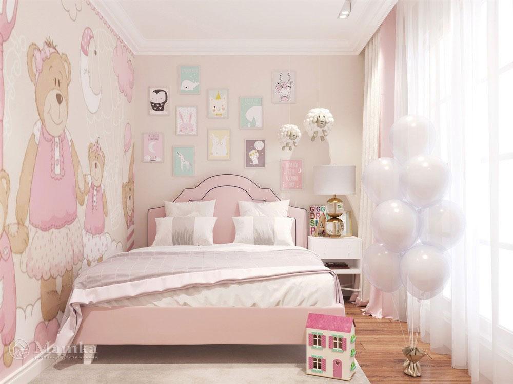 Идеи детской комнаты для девочки в розовых тонах 1