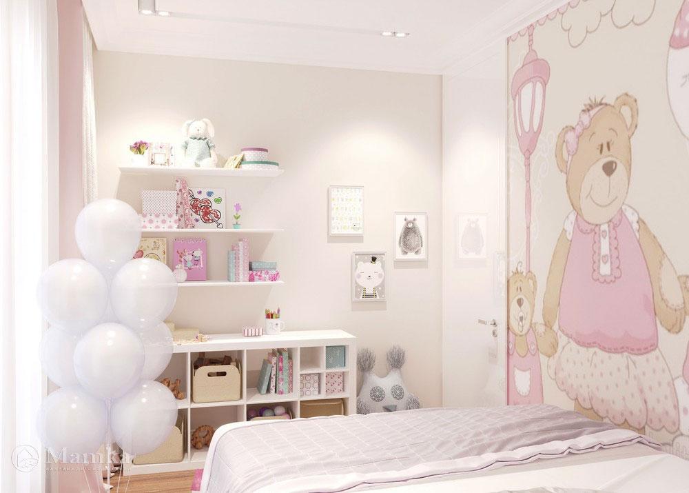 Идеи детской комнаты для девочки в розовых тонах 2