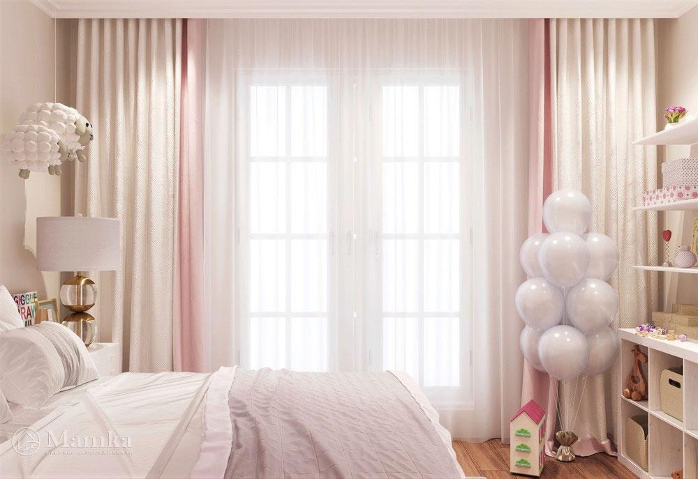 Идеи детской комнаты для девочки в розовых тонах 3