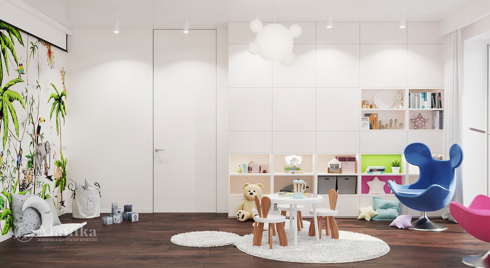 Идеи дизайна детской комнаты с яркими акцентами 1