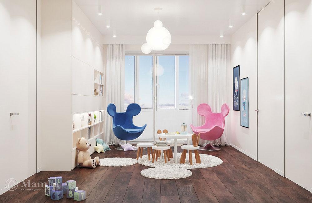 Идеи дизайна детской комнаты с яркими акцентами 2