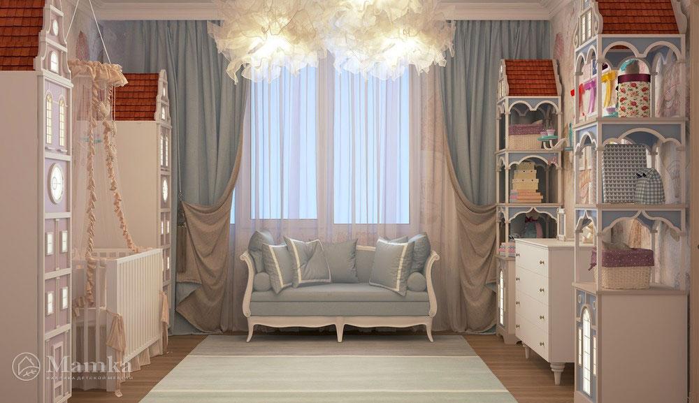 Идеи интерьера детской комнаты в приглушенных оттенках 1