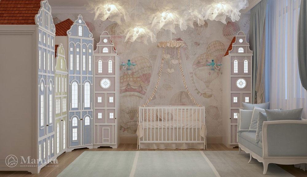 Идеи интерьера детской комнаты в приглушенных оттенках 2