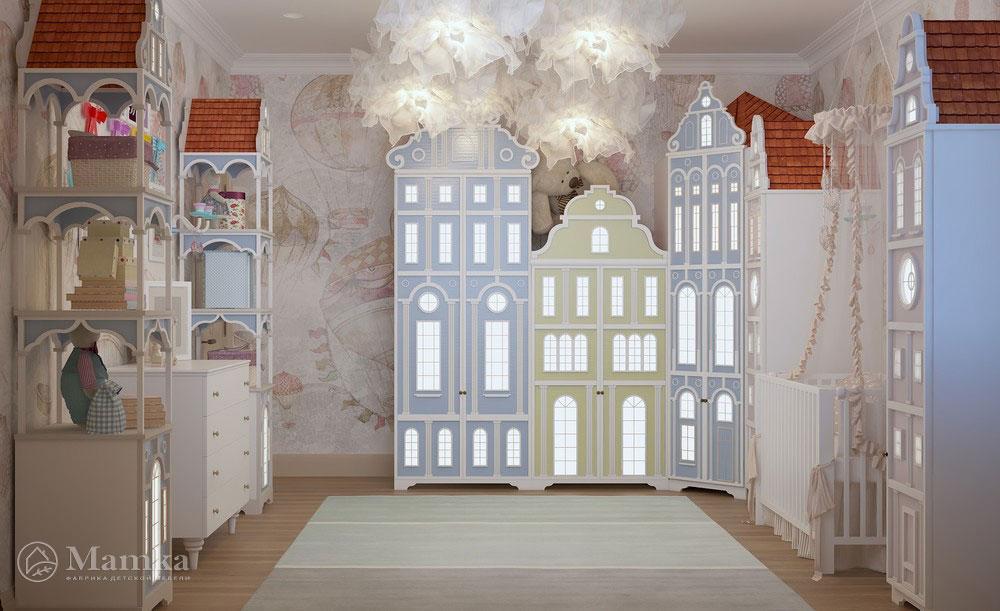 Идеи интерьера детской комнаты в приглушенных оттенках 3