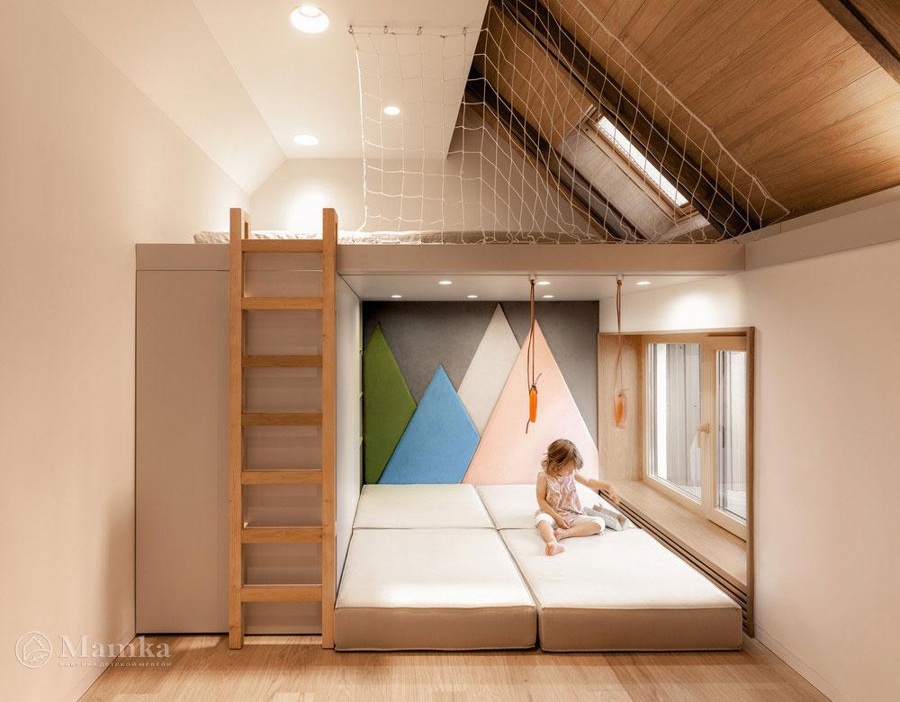 Идеи интерьера детской комнаты с удобным разграничением пространства 1