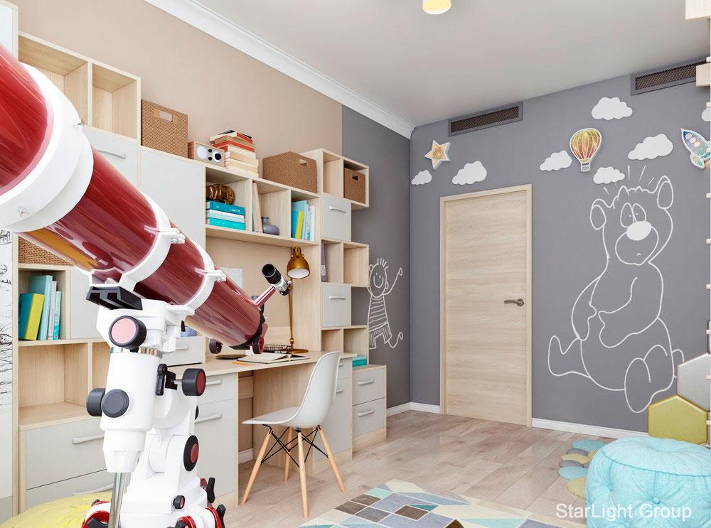 Идея детской для двух мальчиков с ярким комфортным интерьером 5