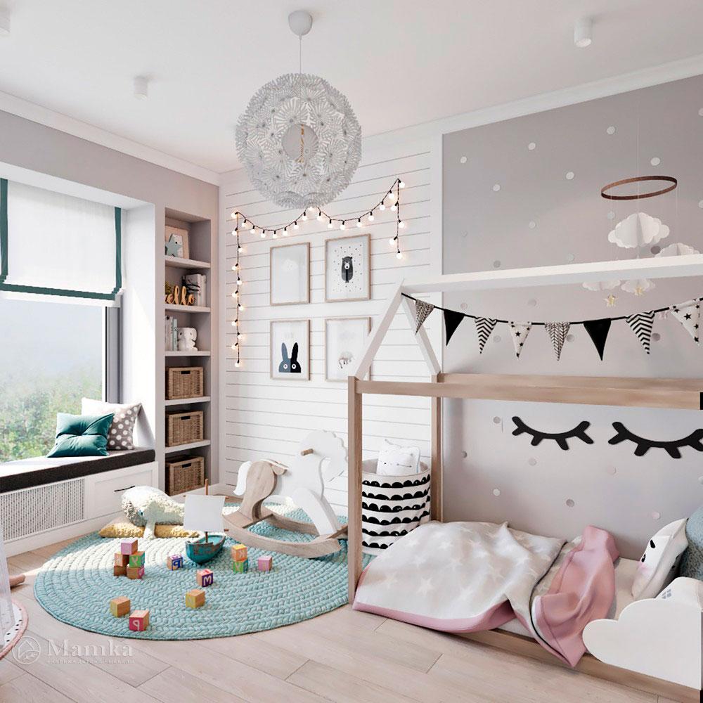 Идея для детской комнаты с красивым оформлением 1