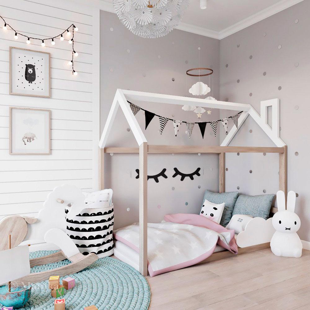 Идея для детской комнаты с красивым оформлением 2