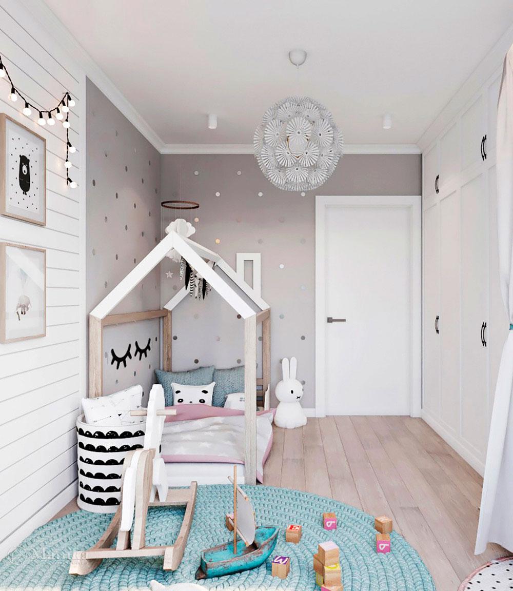 Идея для детской комнаты с красивым оформлением 3