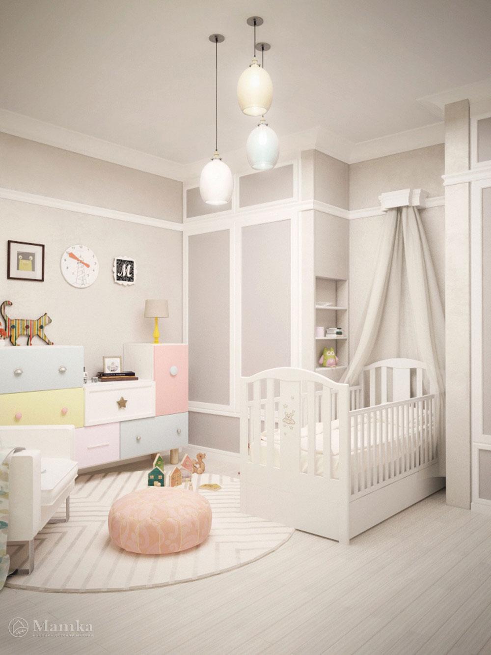Идея для детской с минималистическим декором  1