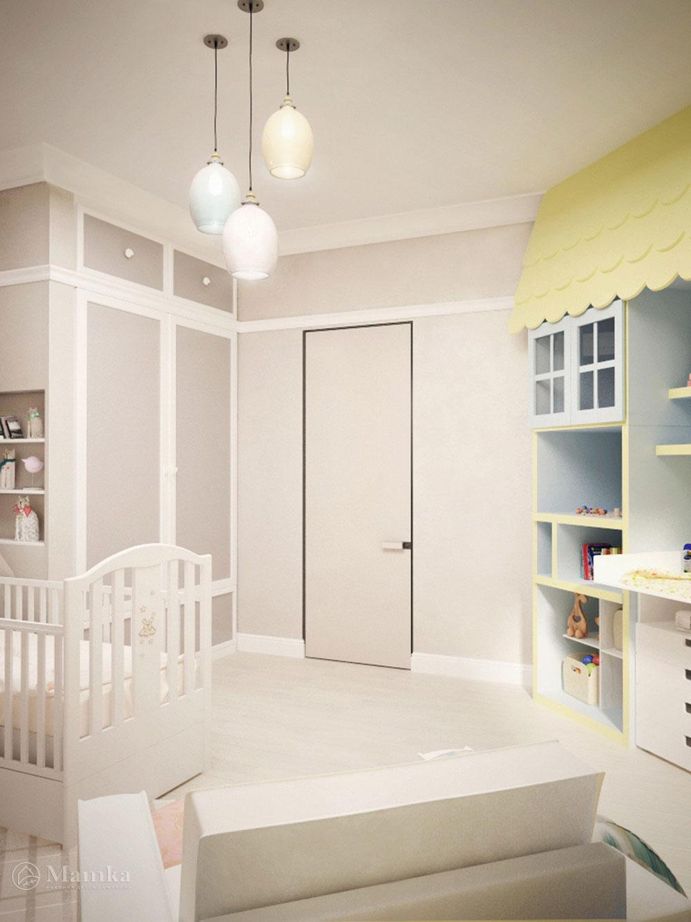 Идея для детской с минималистическим декором 2
