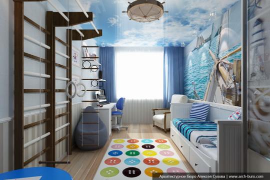 детская мебель для мальчика в морском стиле лофт