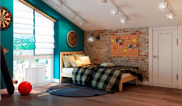 Детская комната в стиле лофт фото 1