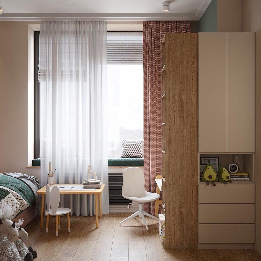 Интерьер детской комнаты для двоих девочек близняшек 4