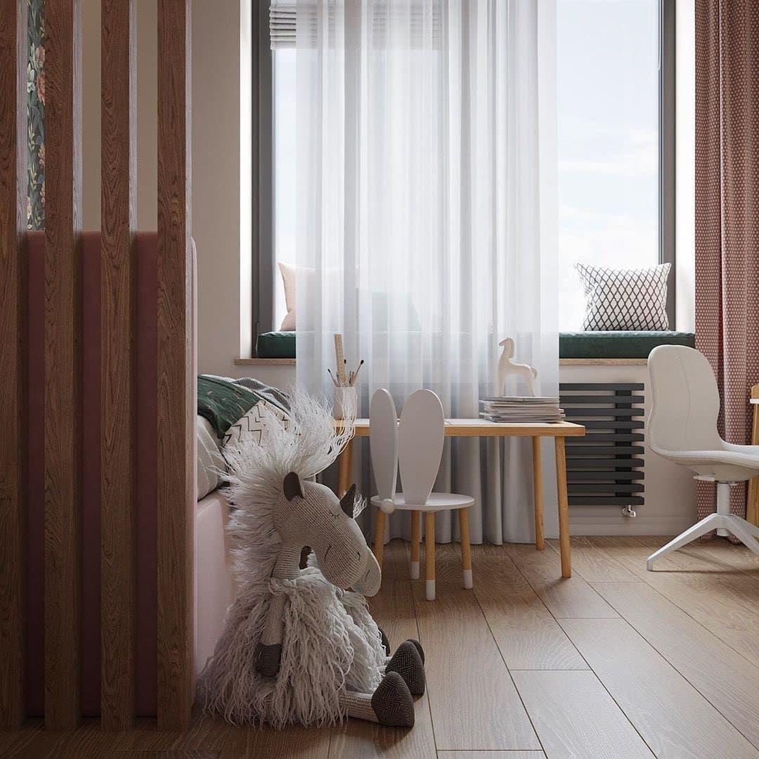 Интерьер детской комнаты для двоих девочек близняшек 6