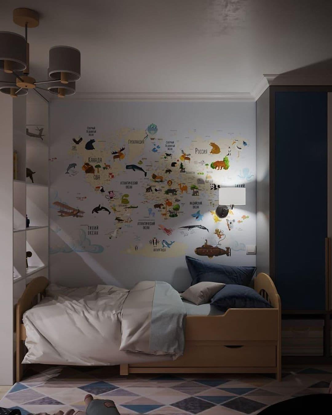 Интерьер детской комнаты для разнополых детей 5 лет 10