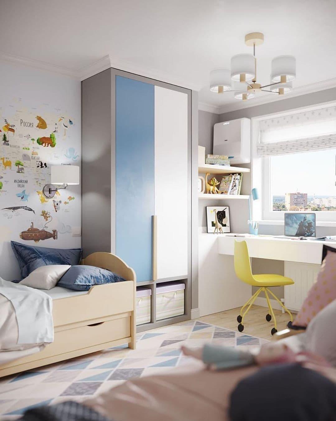 Интерьер детской комнаты для разнополых детей 5 лет 3