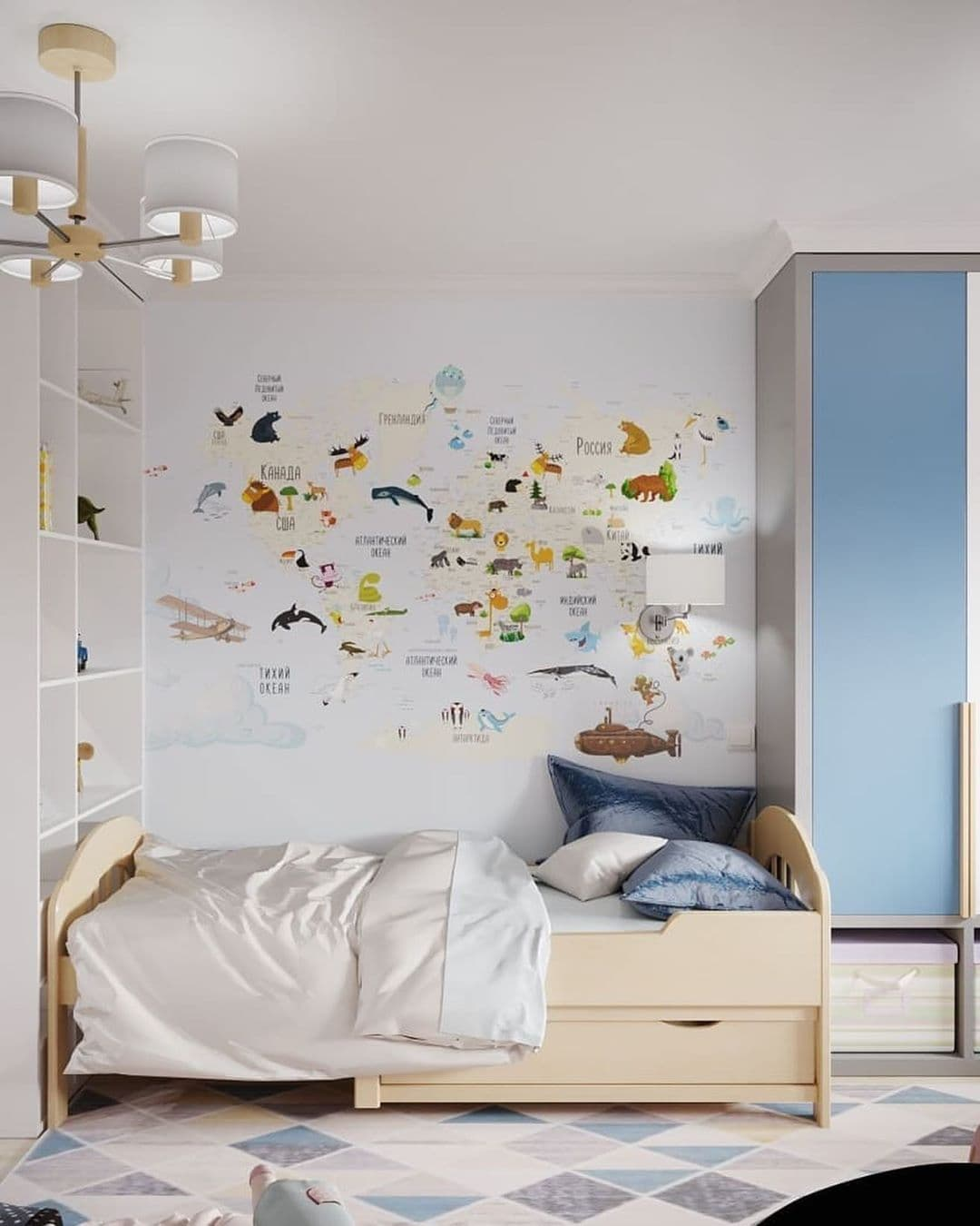 Интерьер детской комнаты для разнополых детей 5 лет фото 4