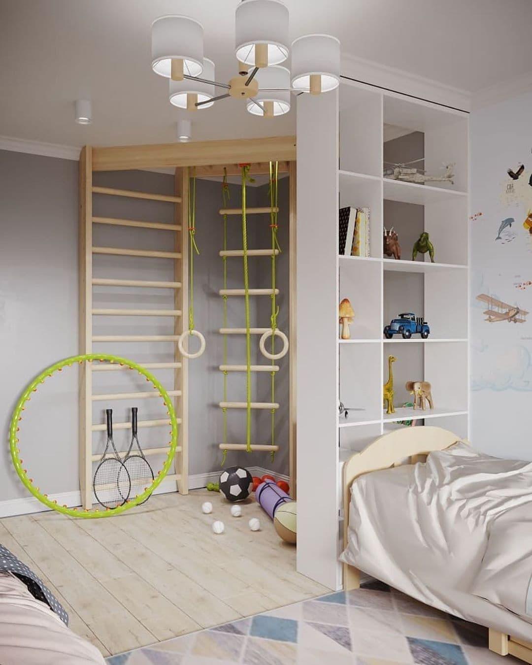 Интерьер детской комнаты для разнополых детей 5 лет 6
