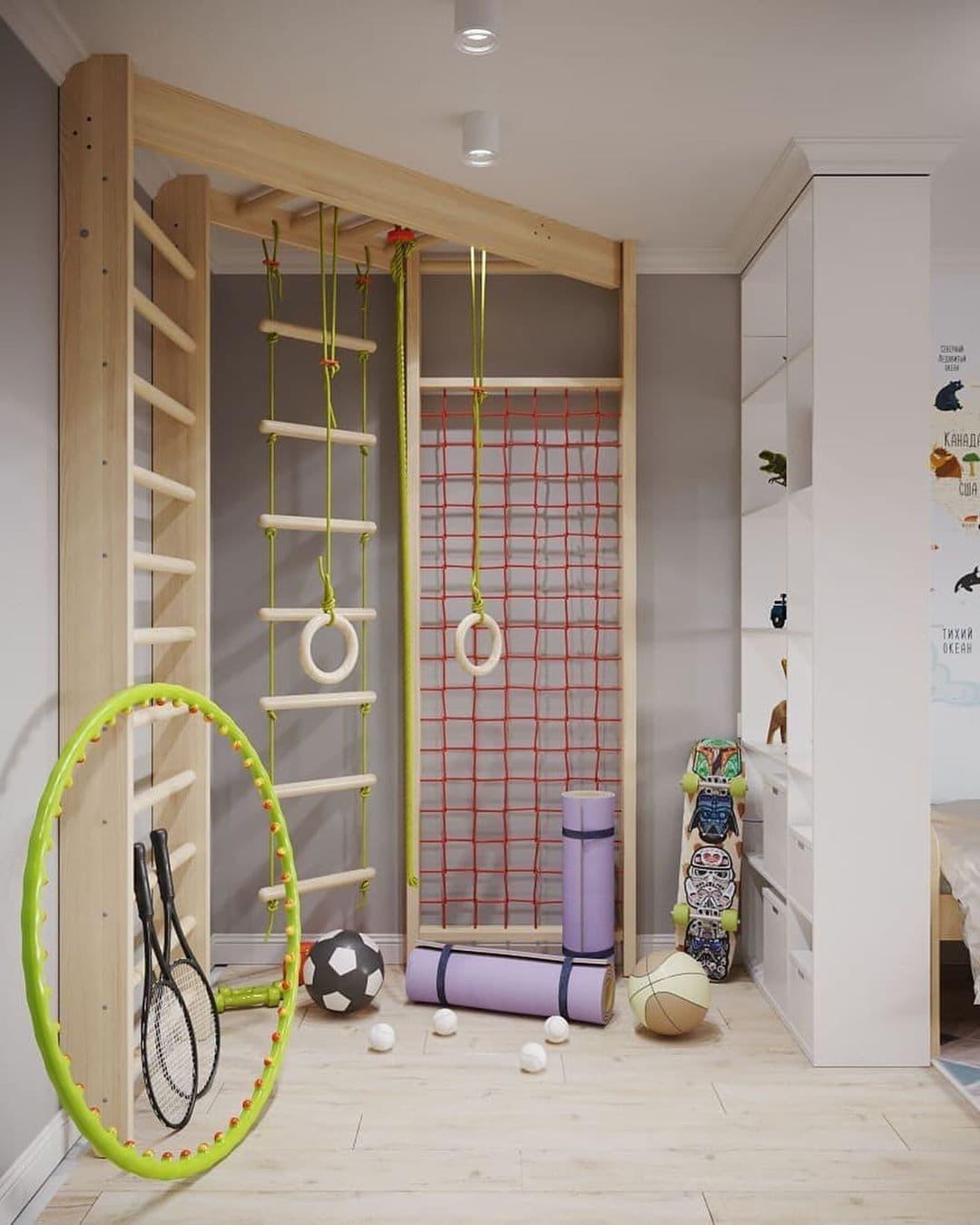 Интерьер детской комнаты для разнополых детей 5 лет 7