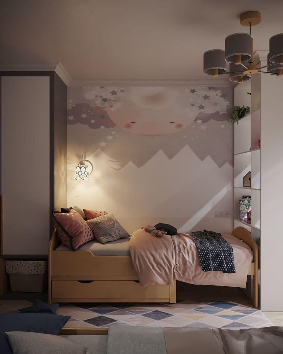 Интерьер детской комнаты для разнополых детей 5 лет 9