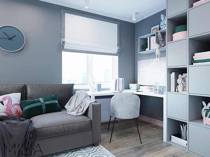 Интерьер общей комнаты для 2 взрослых и 3 детей 5