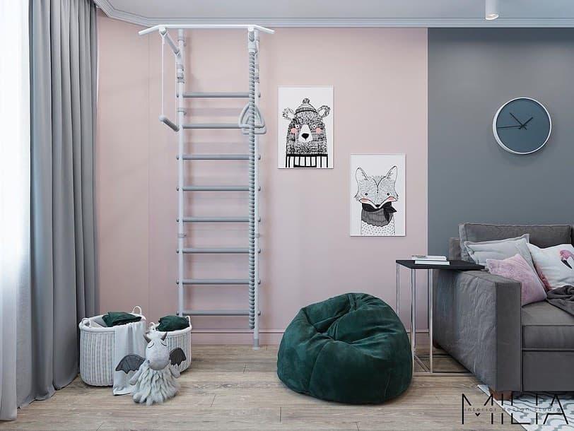 Интерьер общей комнаты для 2 взрослых и 3 детей 6