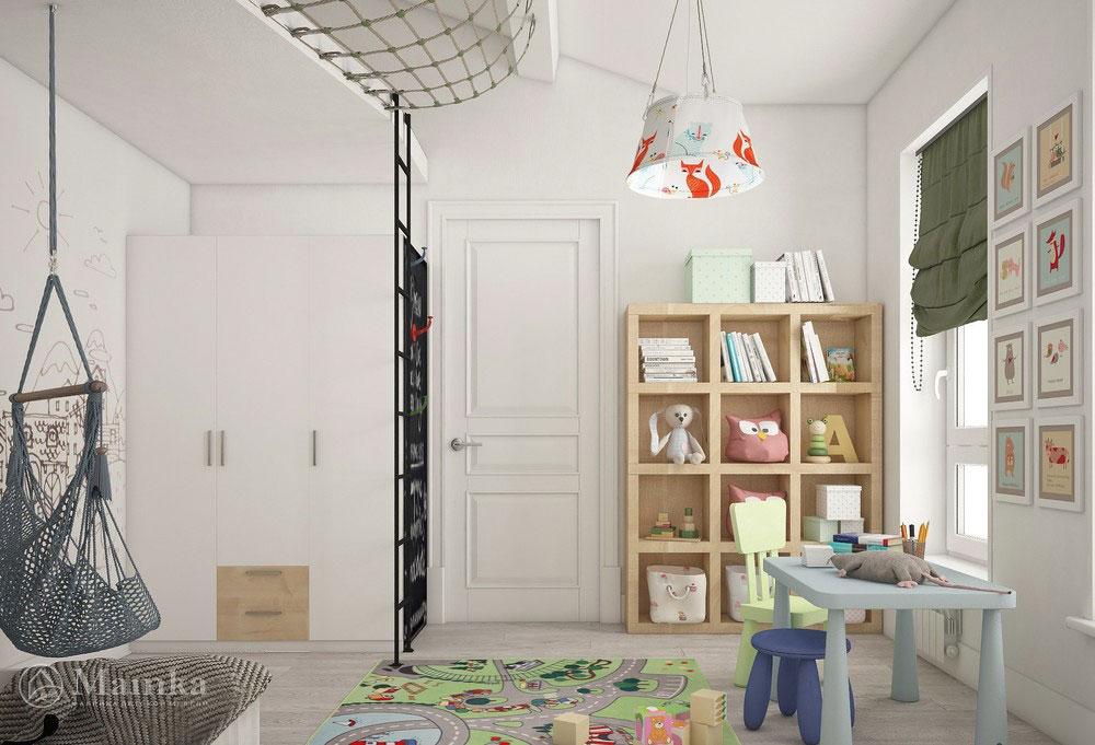 Интересные идеи детской для двух разнополых детей в современном стиле 2