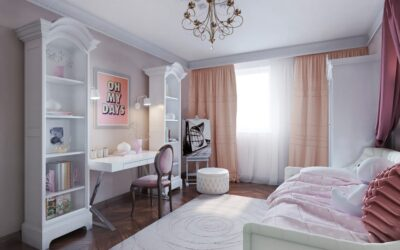 Нежная комната для принцессы или как превратить детскую спальню в волшебный замок