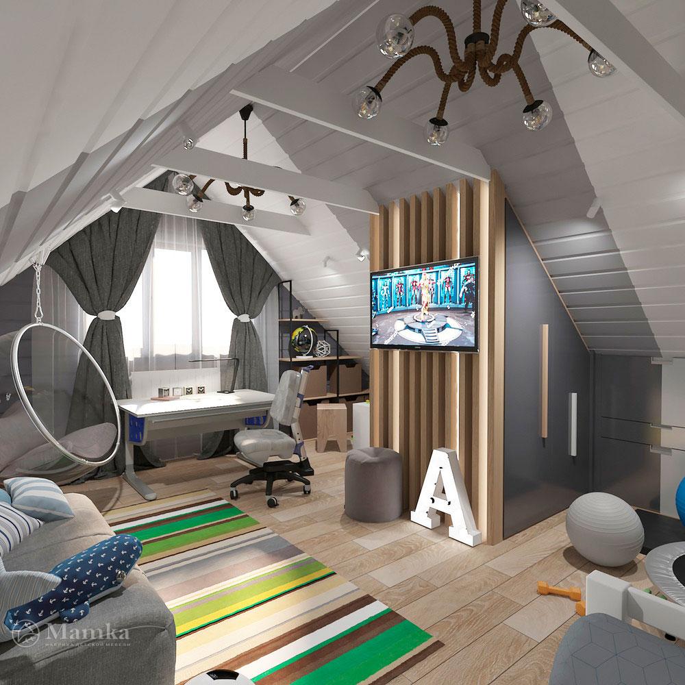 Интерьер детской комнаты для мальчика в современном стиле 1