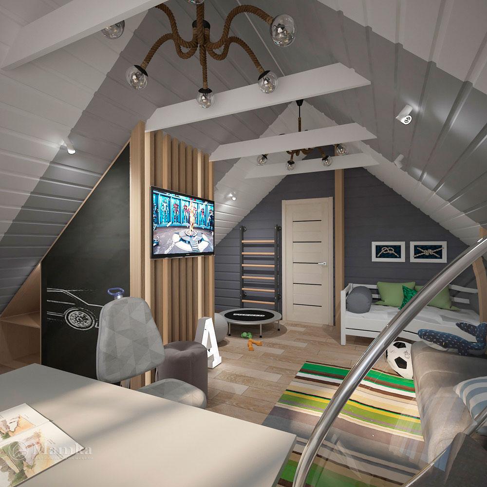 Интерьер детской комнаты для мальчика в современном стиле 2