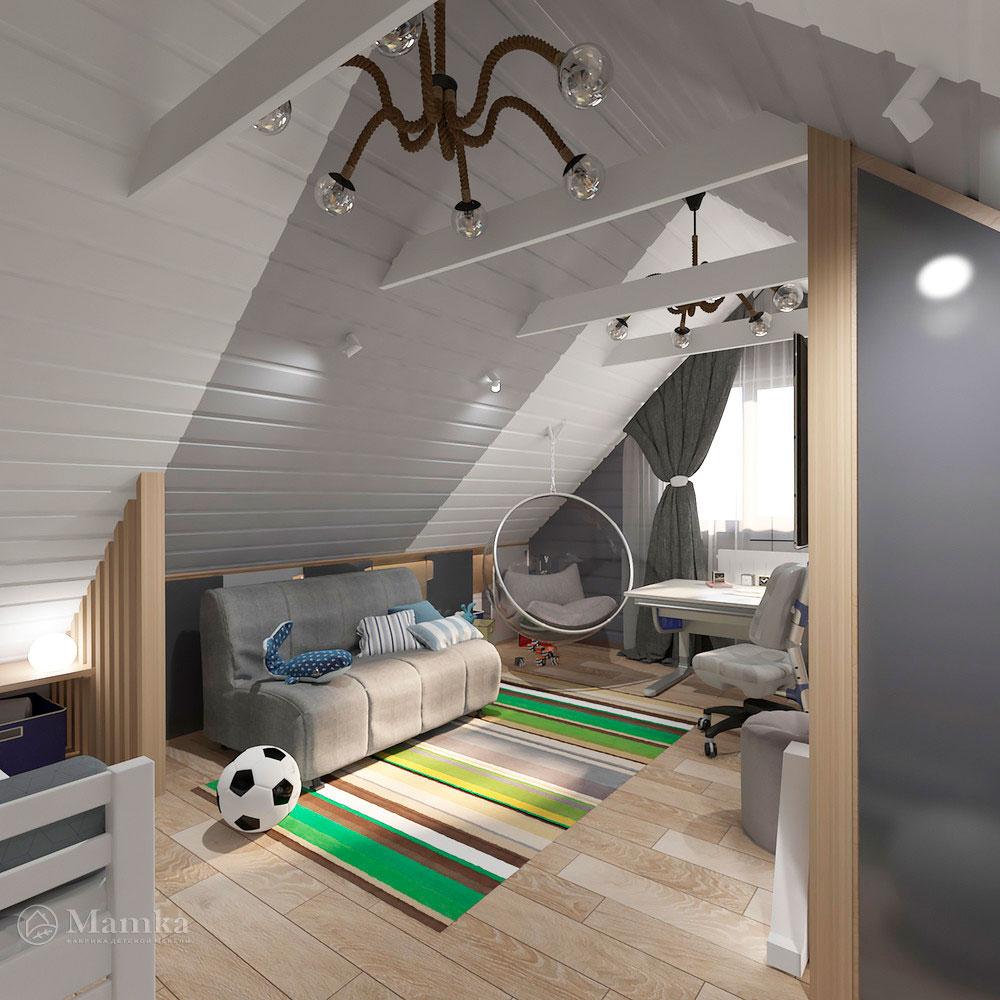 Интерьер детской комнаты для мальчика в современном стиле 3
