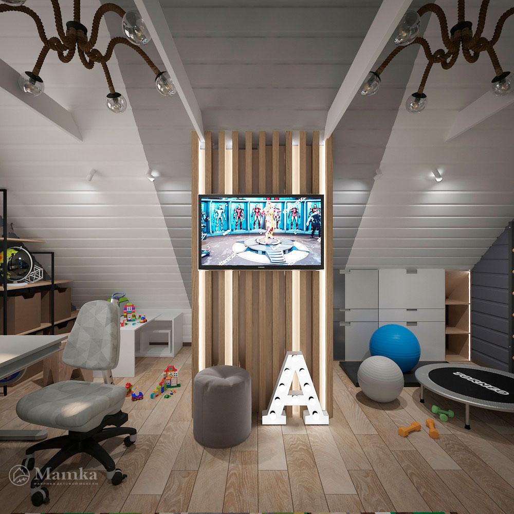 Интерьер детской комнаты для мальчика в современном стиле 5