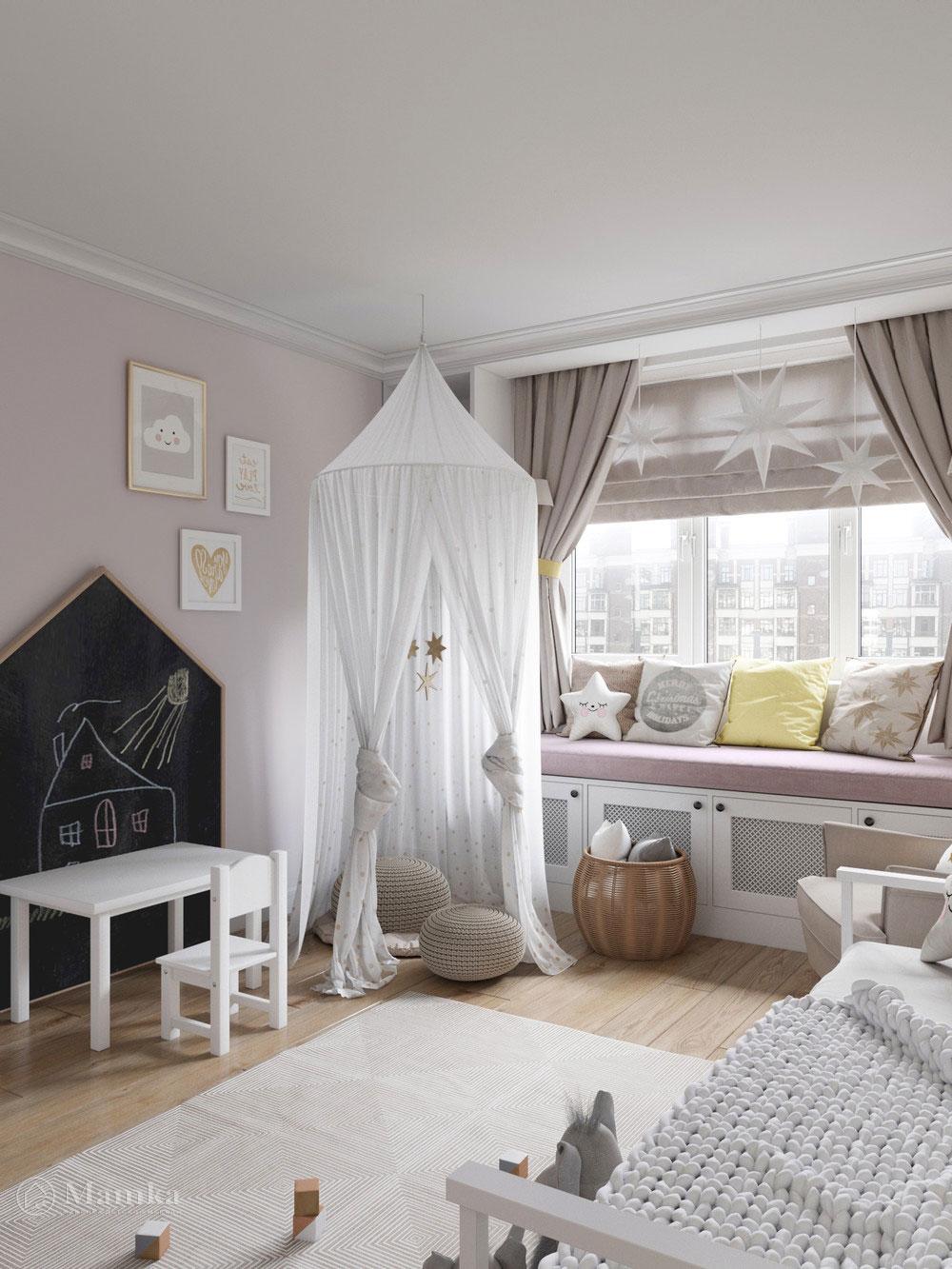 Изумительно нежный дизайн детской комнаты для девочки 1