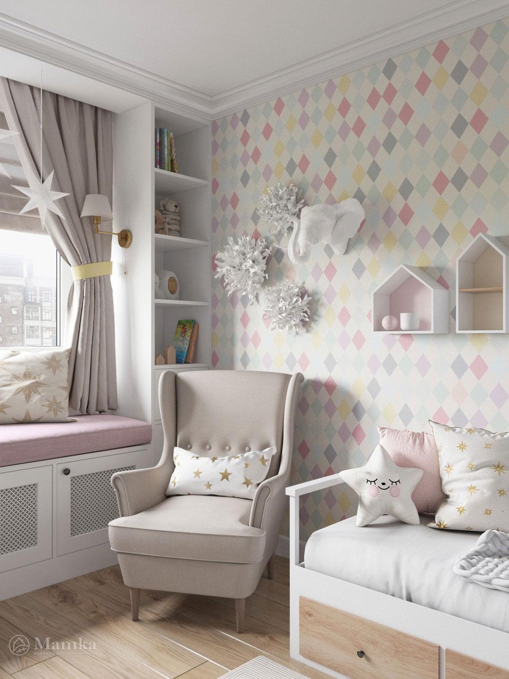Изумительно нежный дизайн детской комнаты для девочки 2