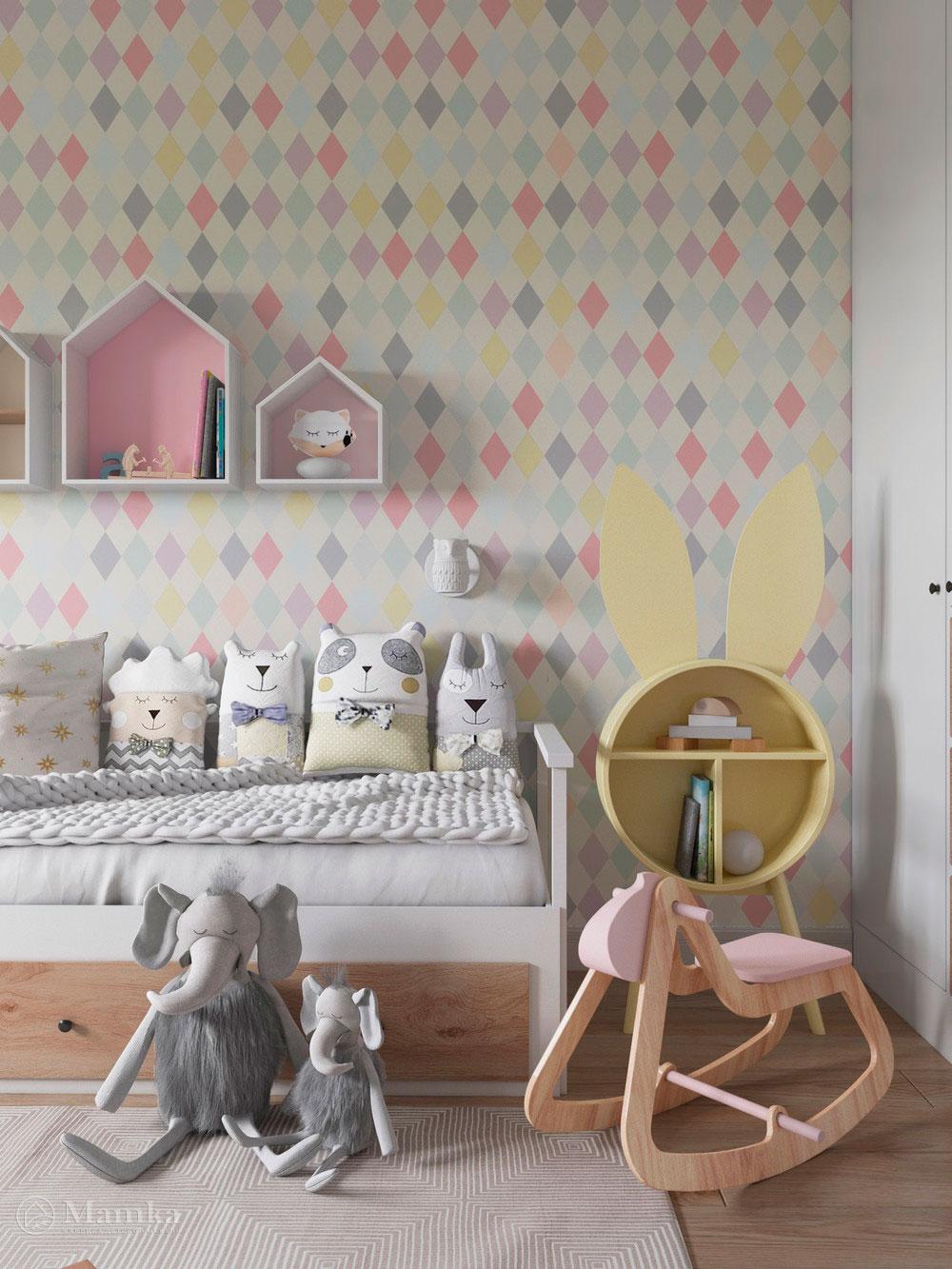 Изумительно нежный дизайн детской комнаты для девочки 3