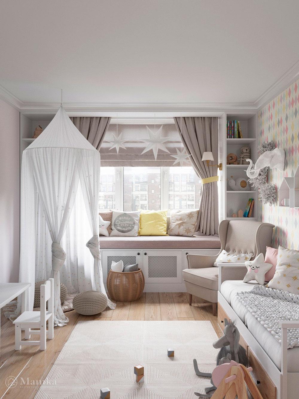 Изумительно нежный дизайн детской комнаты для девочки 4
