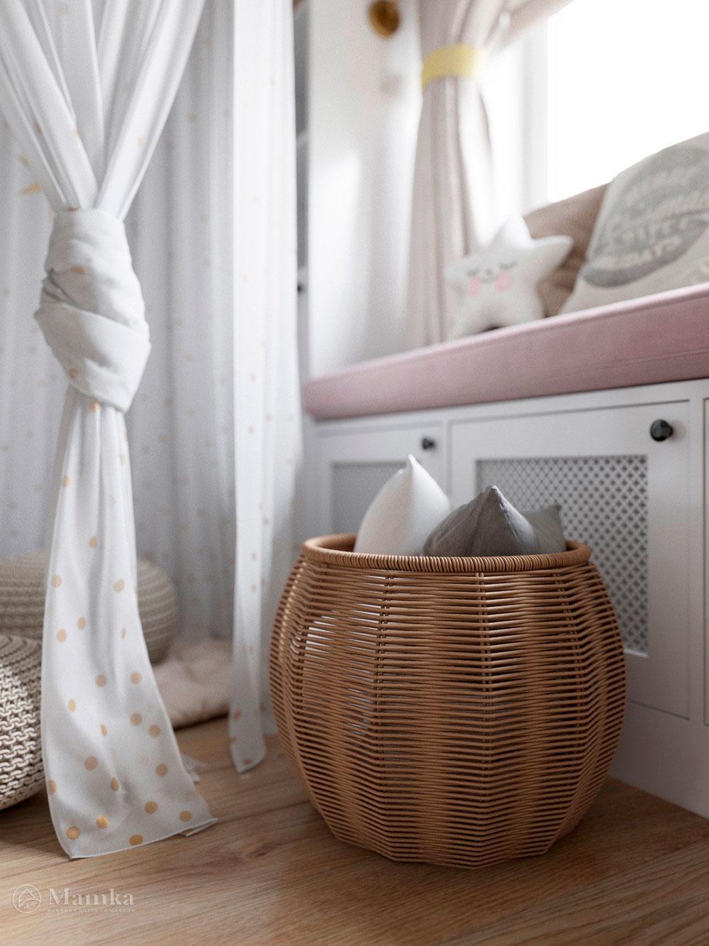 Изумительно нежный дизайн детской комнаты для девочки 6