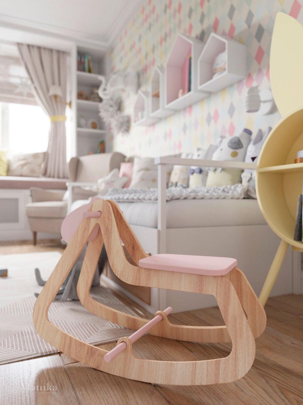 Изумительно нежный дизайн детской комнаты для девочки 7