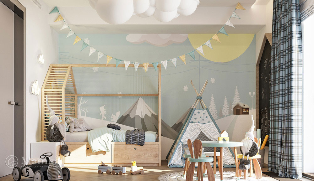 Комфортный дизайн детской зоны с практичной планировкой 1